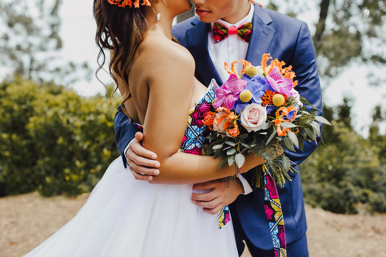 Mariage exotisme et élégance - fleuriste Rouge pivoine