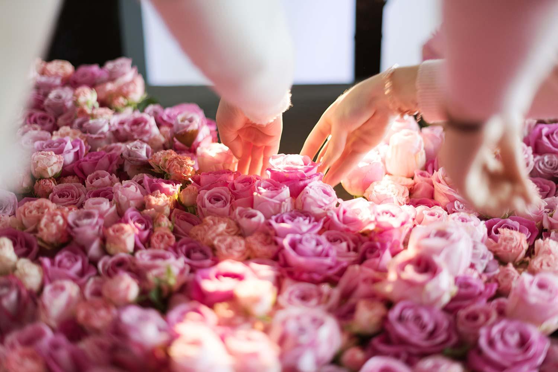 Rouge pivoine Floral Class avec Émilie Alarcon au Wdd'challenge 2019 à Marseille - fleuriste Saint-Jean-de-Luz