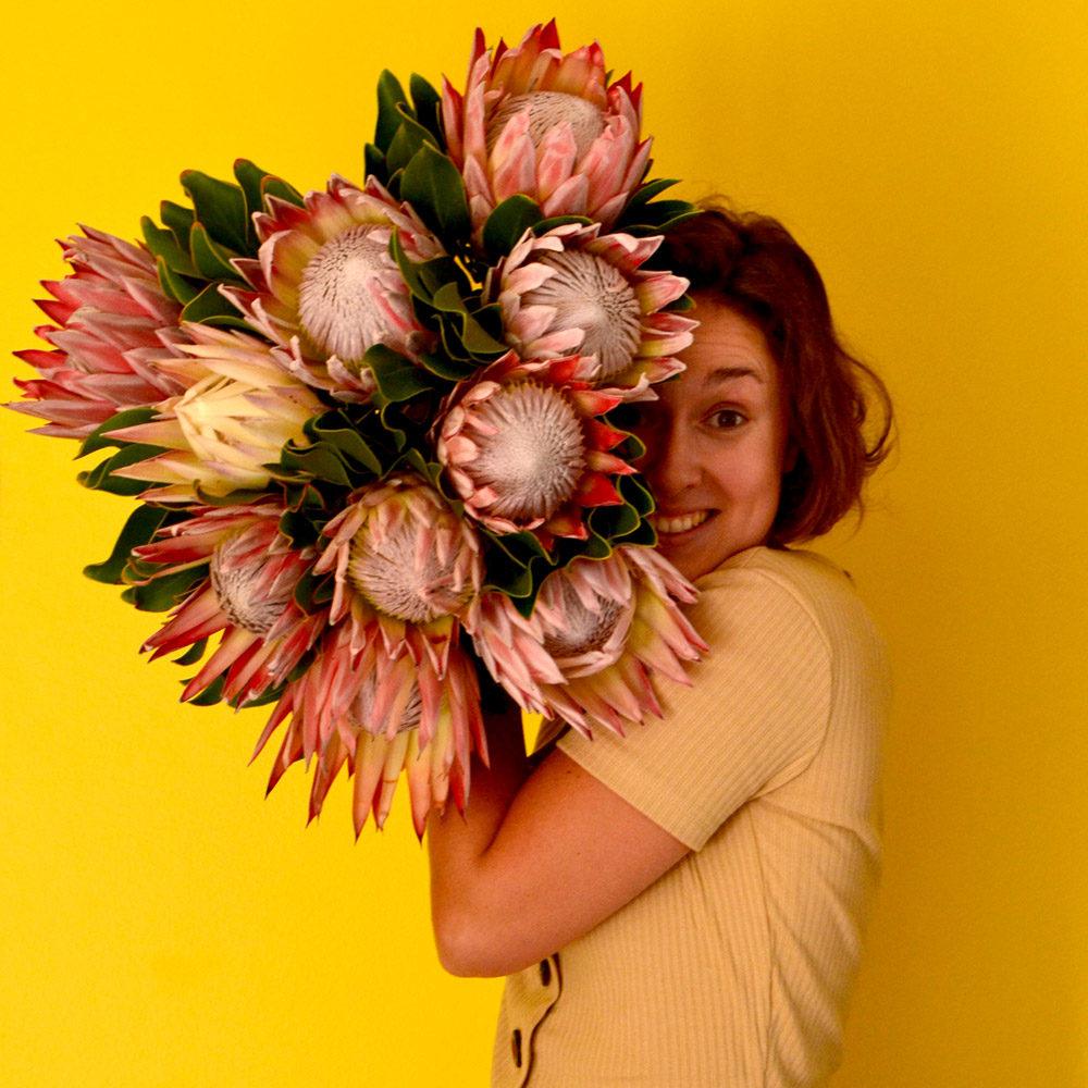 Audrey, fleuriste indépendante à Saint-Jean-de-Luz, société Rouge pivoine, spécialisée dans les mariages et les entreprises